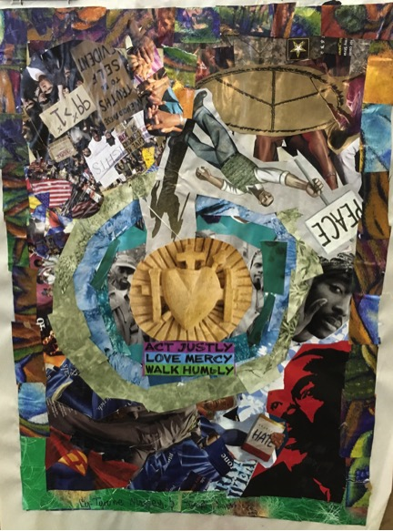 nonviolence themed collage