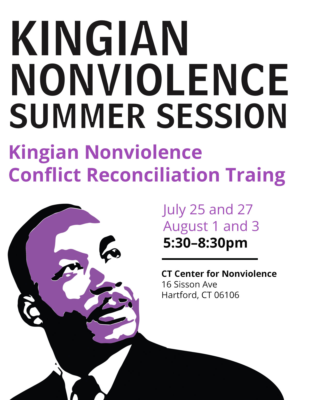 kingian_nonviolence_summer_session_conflict_reconciliation_Training_ct_center_nonviolence